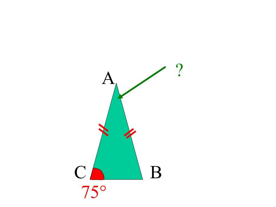 A C B 75°