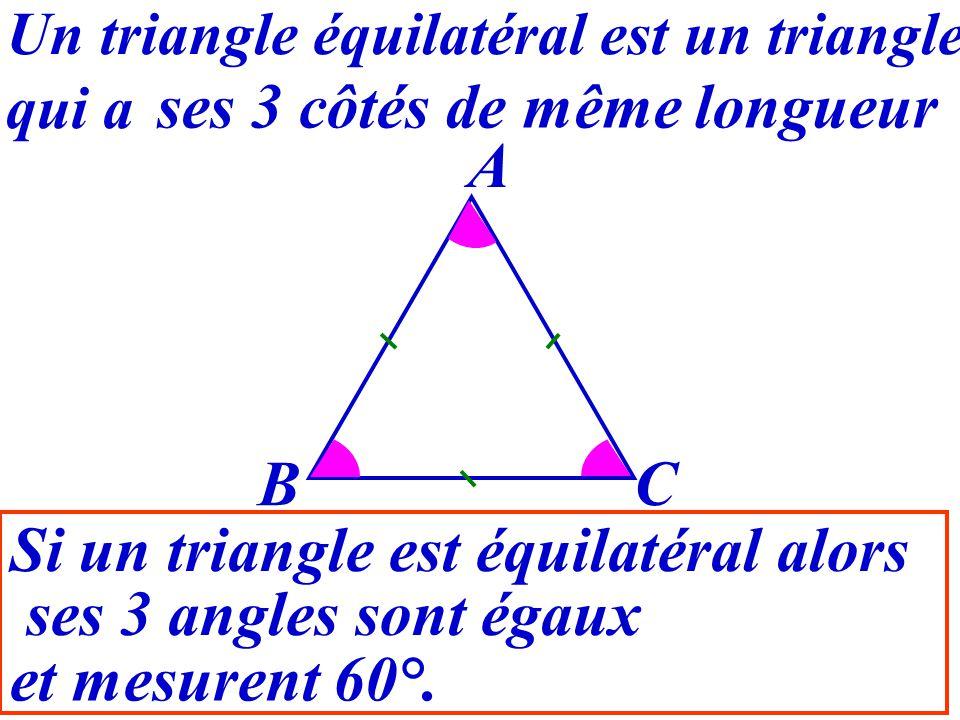 Si un triangle est équilatéral alors