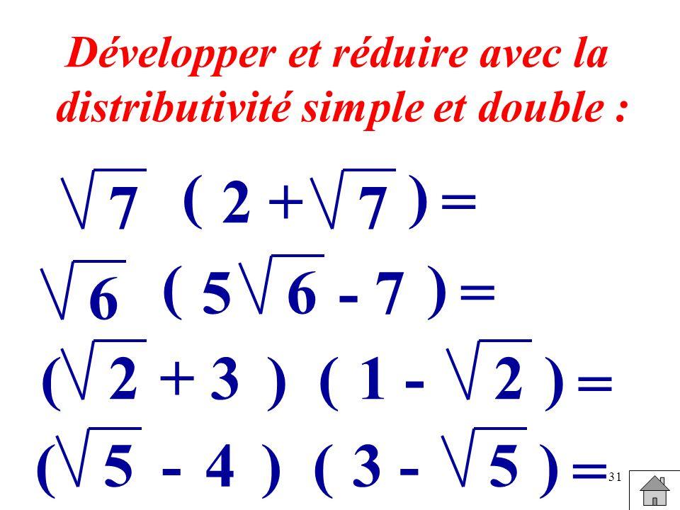 Développer et réduire avec la distributivité simple et double :