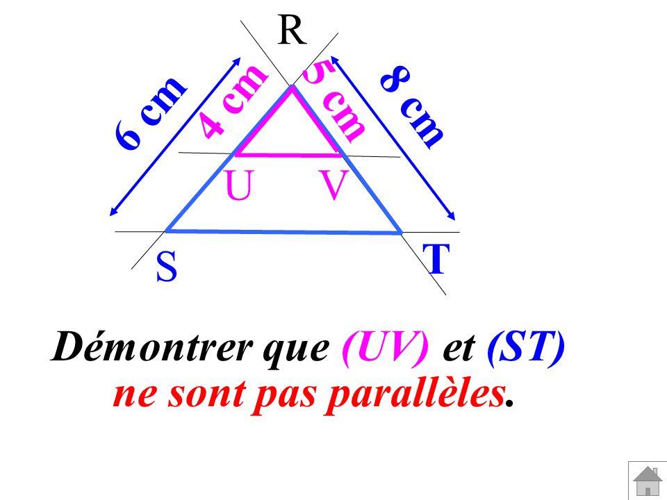 Démontrer que (UV) et (ST)