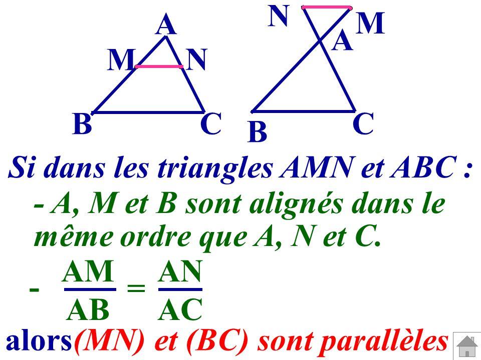 (MN) et (BC) sont parallèles