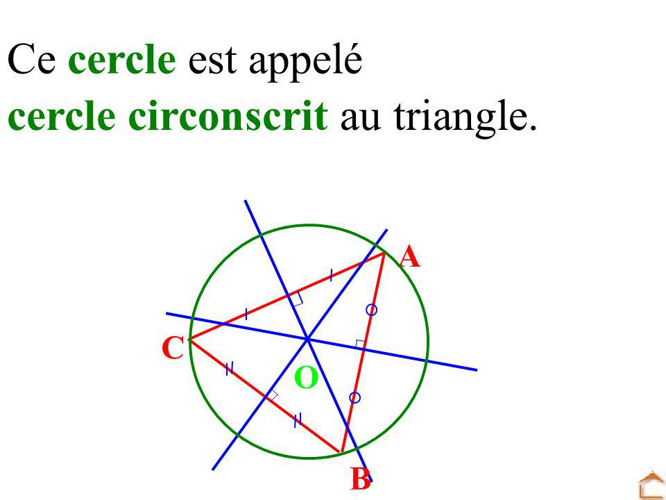 cercle circonscrit au triangle.