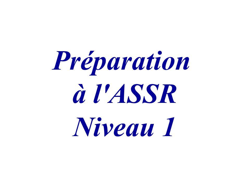 Préparation à l ASSR Niveau 1