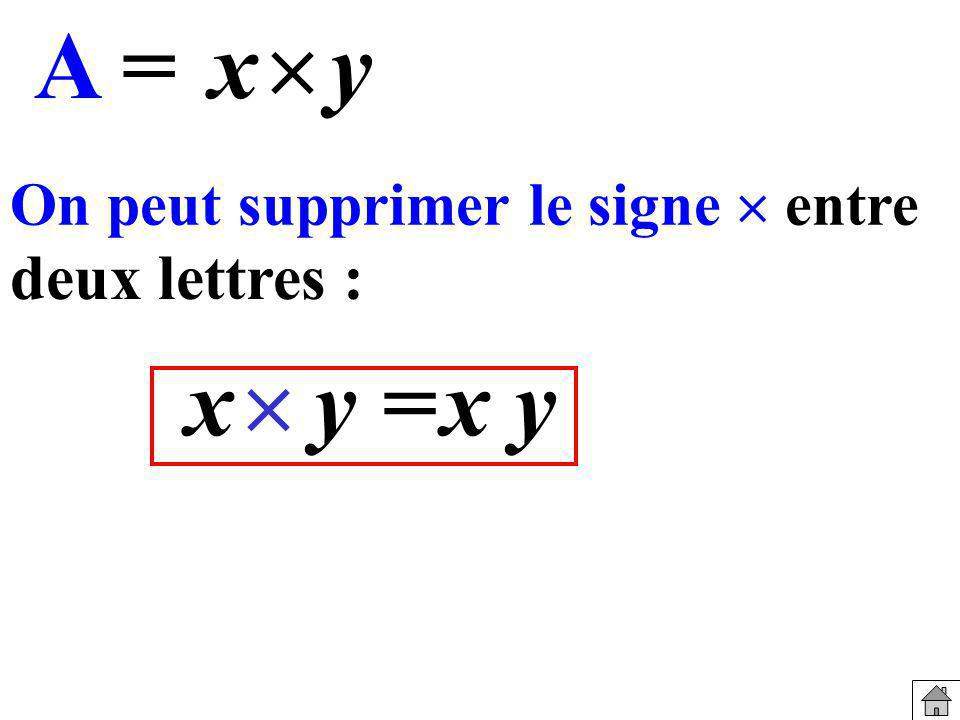 A = x  y x  y = x y deux lettres :