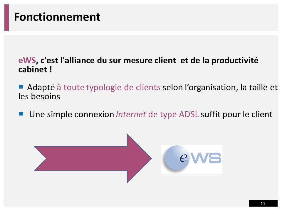 Fonctionnement eWS, c est l alliance du sur mesure client et de la productivité cabinet !