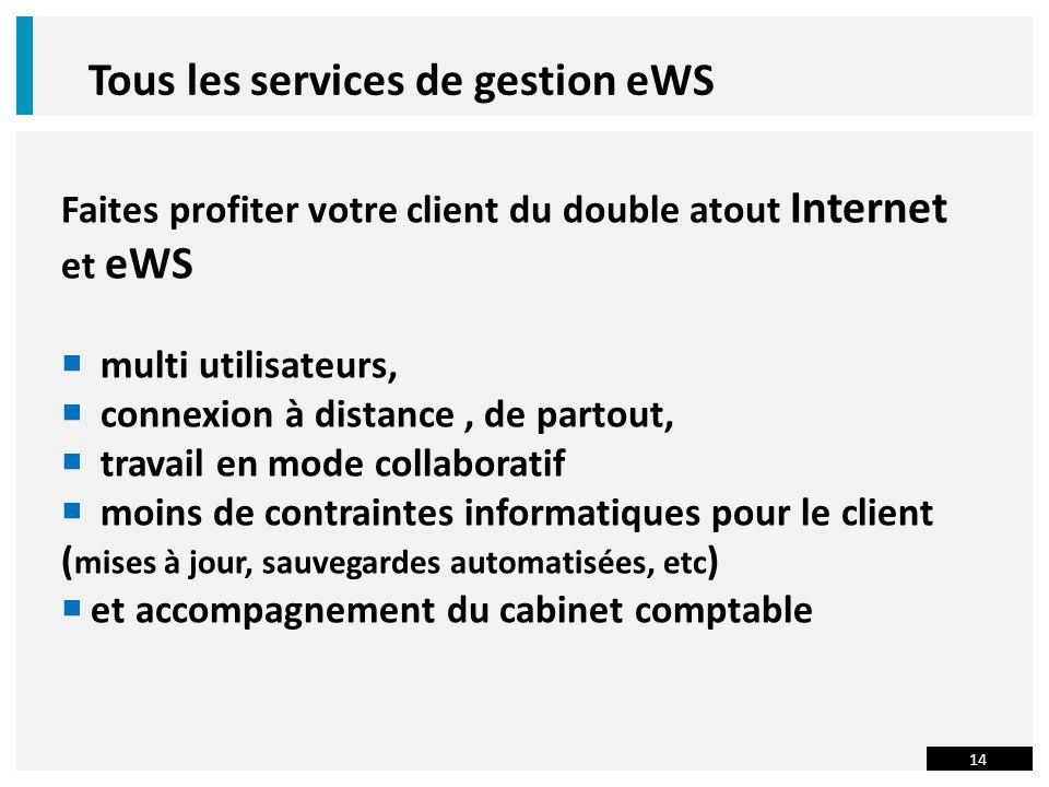 Tous les services de gestion eWS