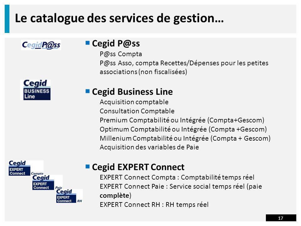 Le catalogue des services de gestion…