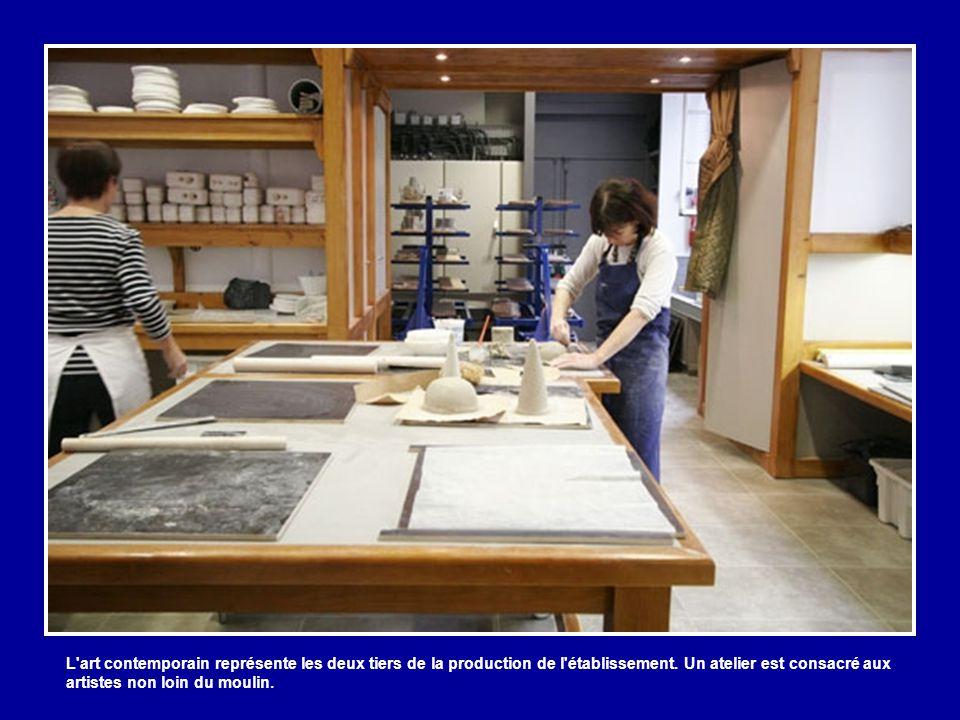 L art contemporain représente les deux tiers de la production de l établissement.