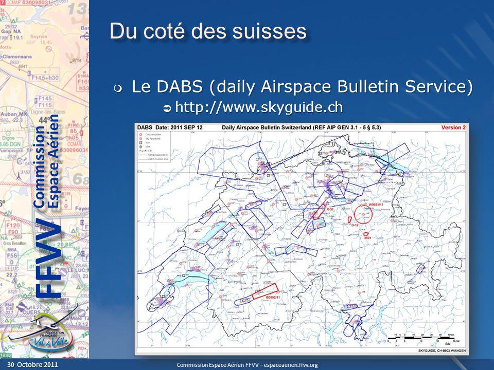 Du coté des suisses Le DABS (daily Airspace Bulletin Service)