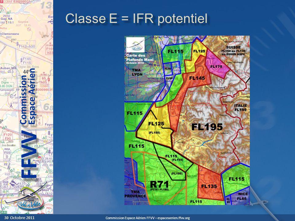 Classe E = IFR potentiel