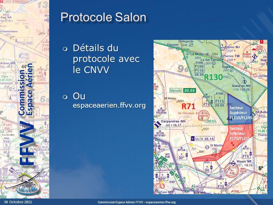 Protocole Salon Détails du protocole avec le CNVV