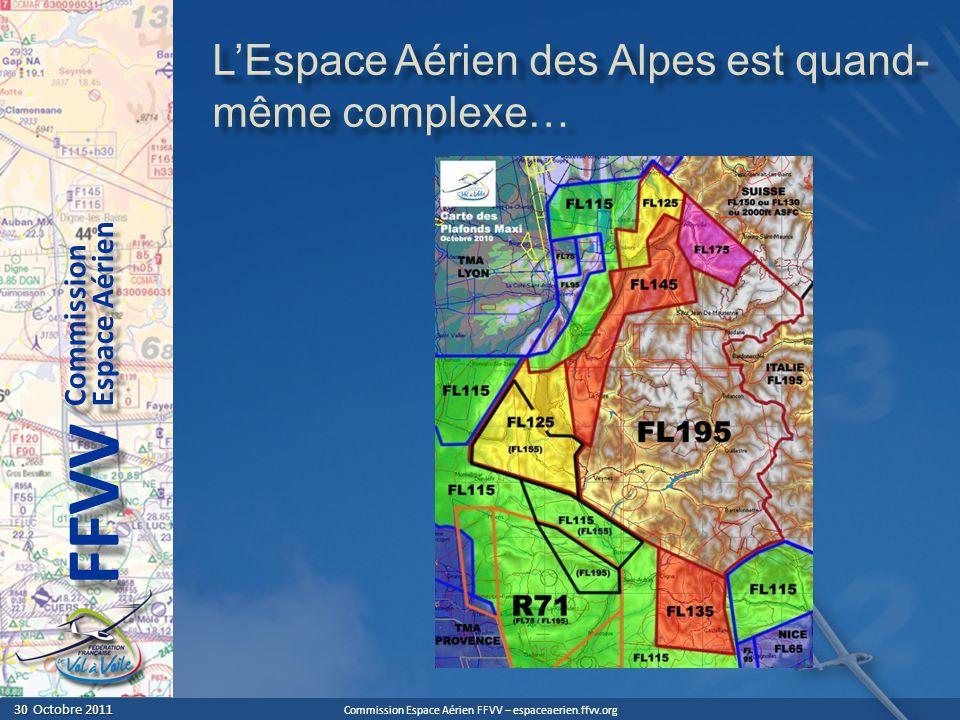 L'Espace Aérien des Alpes est quand-même complexe…