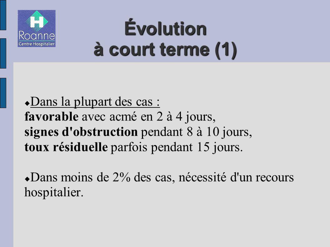 Évolution à court terme (1)