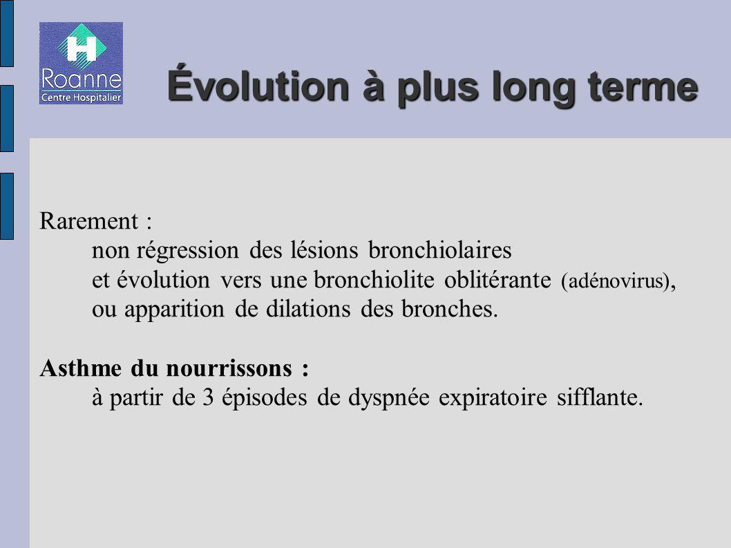 Évolution à plus long terme