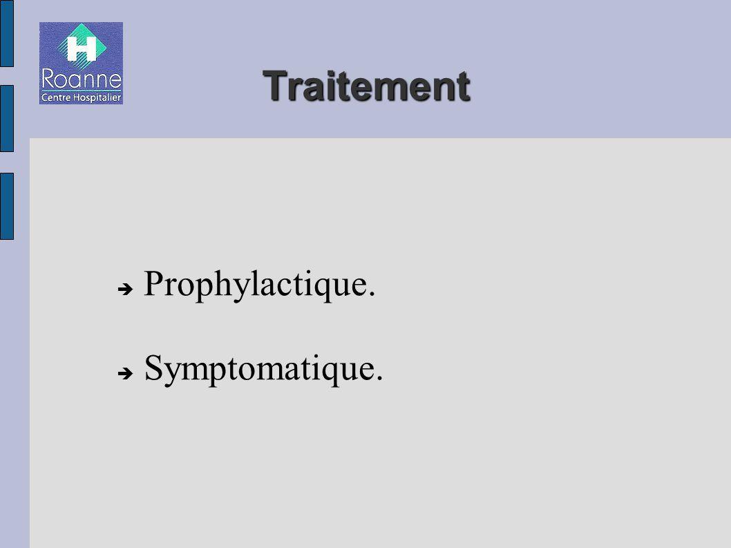 Prophylactique. Symptomatique.