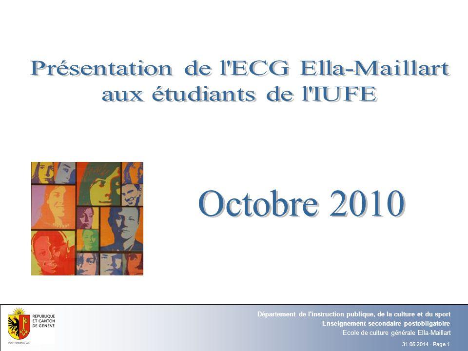 Présentation de l ECG Ella-Maillart