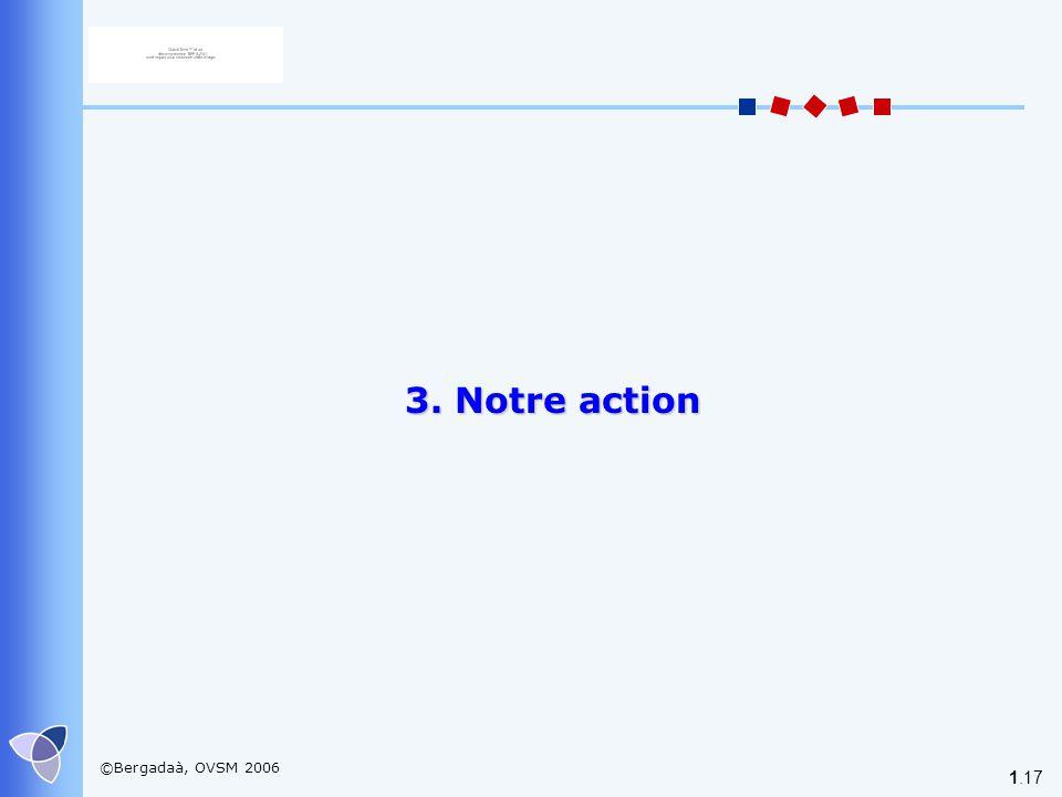 3. Notre action ©Bergadaà, OVSM 2006