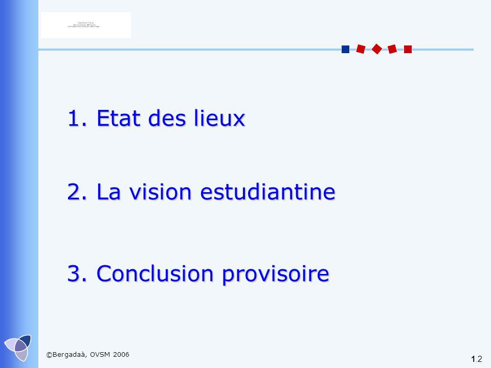 2. La vision estudiantine