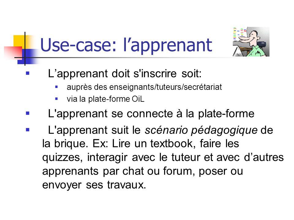 Use-case: l'apprenant