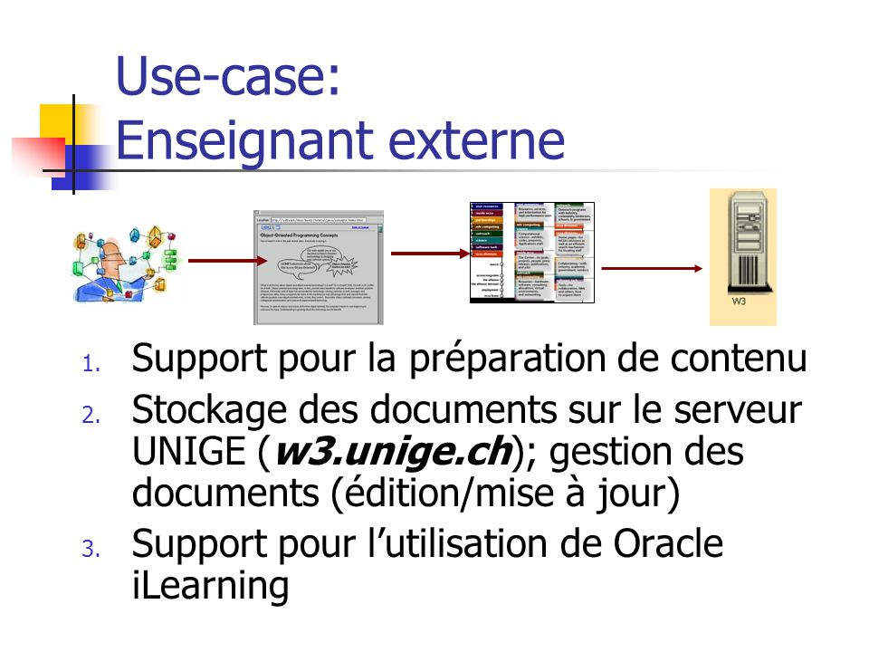 Use-case: Enseignant externe