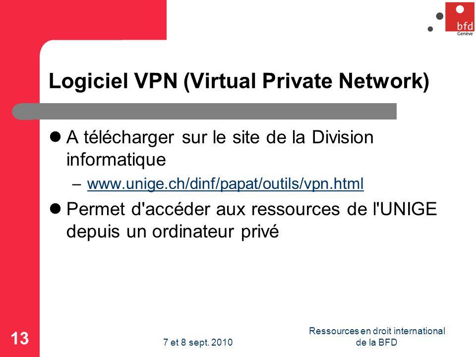 Logiciel VPN (Virtual Private Network)