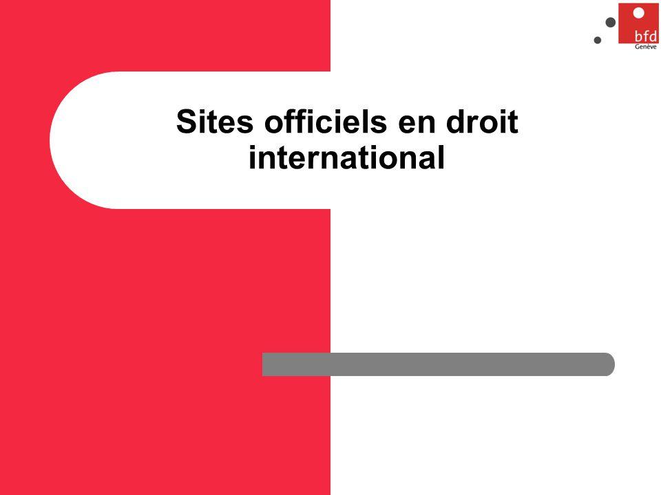 Sites officiels en droit international