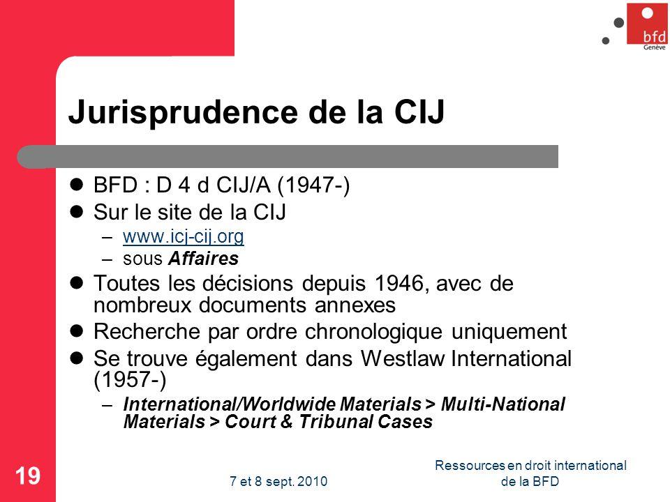 Jurisprudence de la CIJ