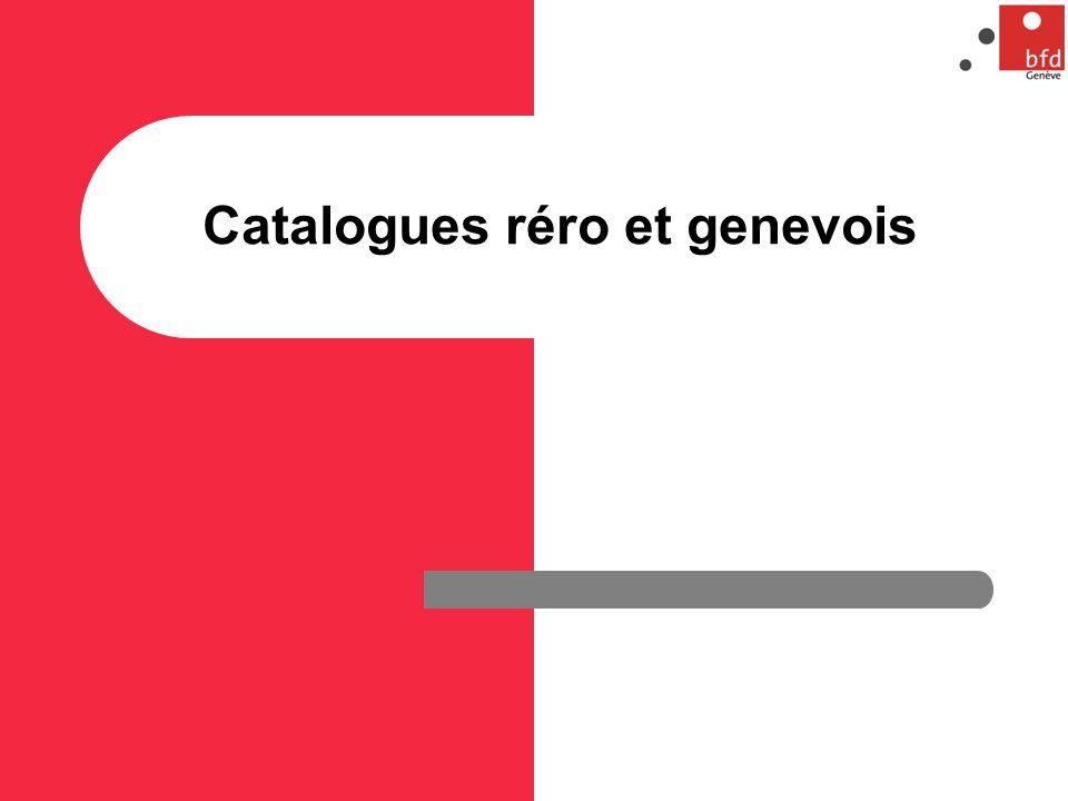 Catalogues réro et genevois
