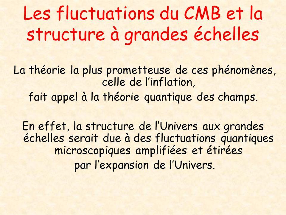 Les fluctuations du CMB et la structure à grandes échelles