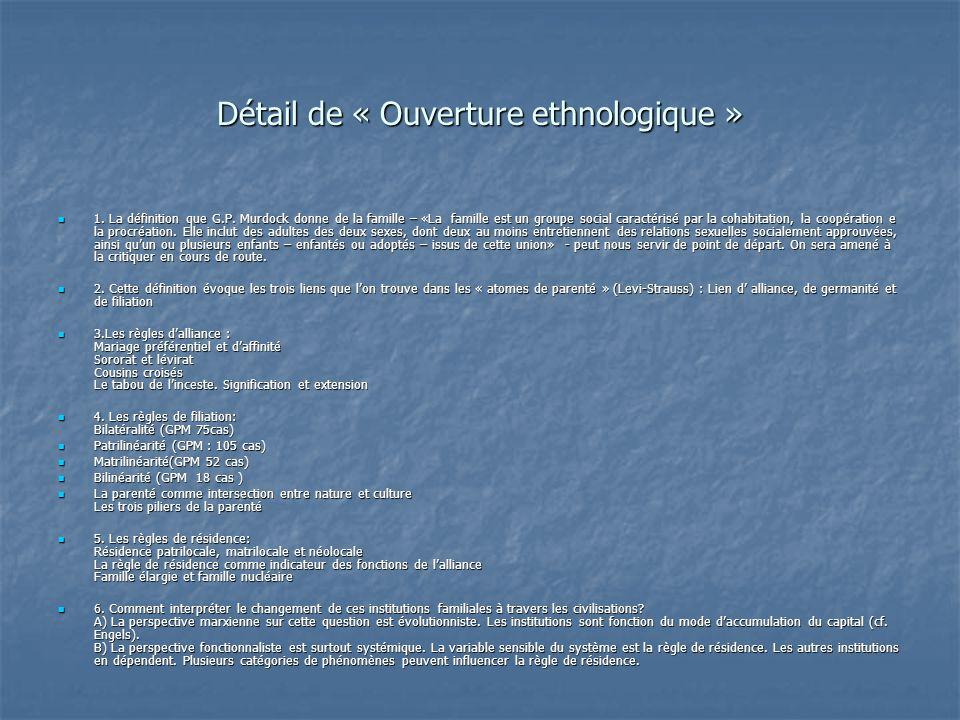Détail de « Ouverture ethnologique »