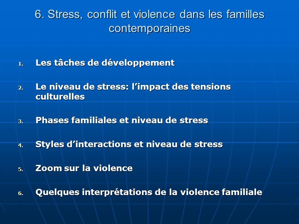 6. Stress, conflit et violence dans les familles contemporaines