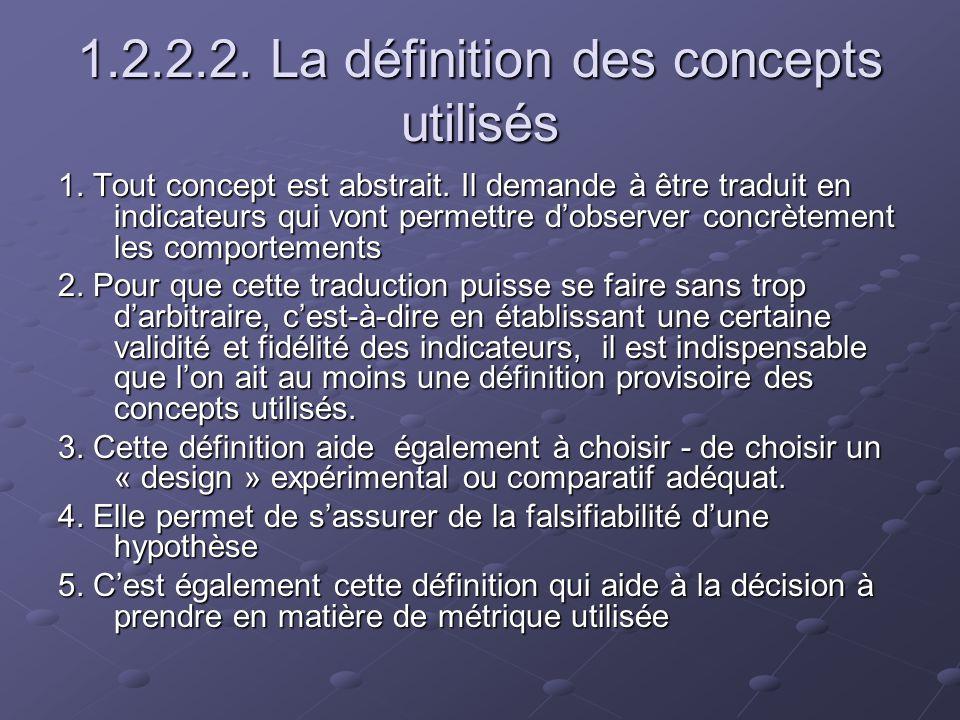 1.2.2.2. La définition des concepts utilisés