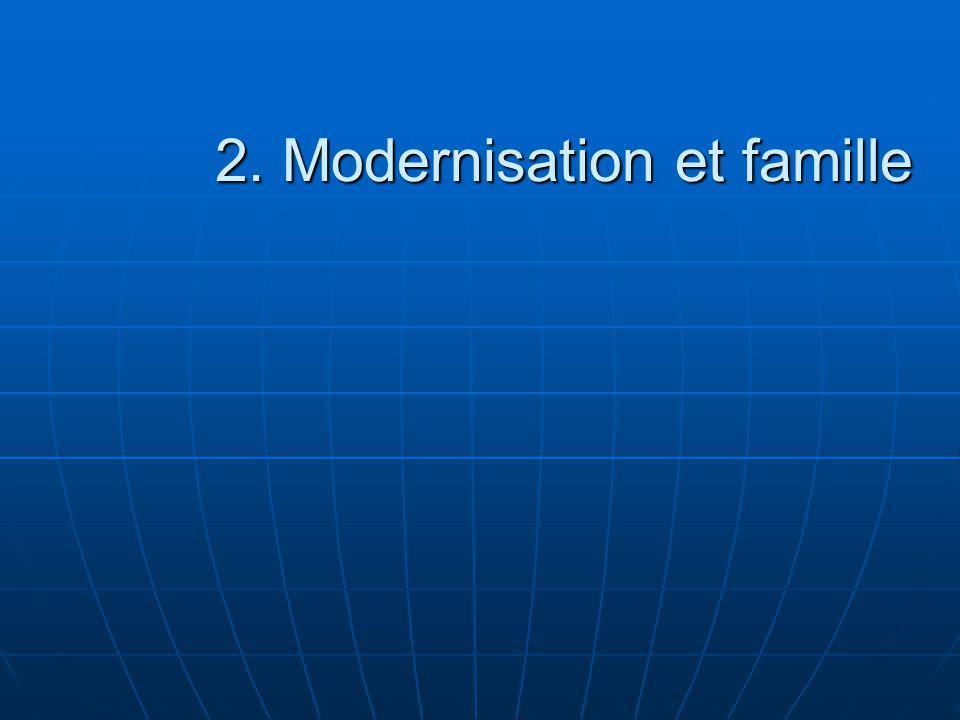 2. Modernisation et famille