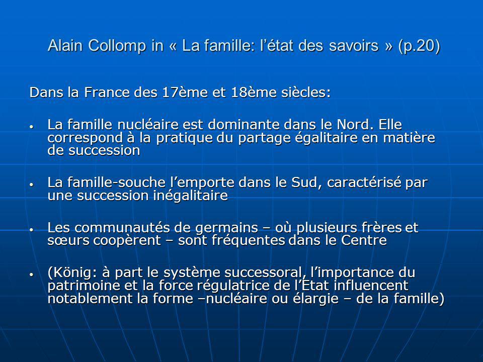 Alain Collomp in « La famille: l'état des savoirs » (p.20)