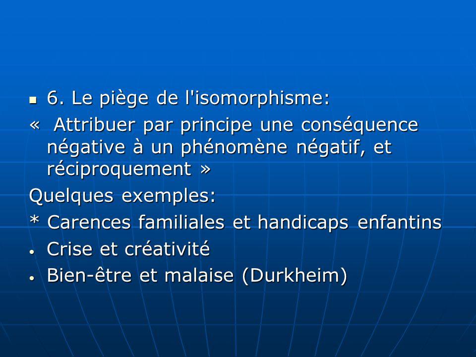 6. Le piège de l isomorphisme:
