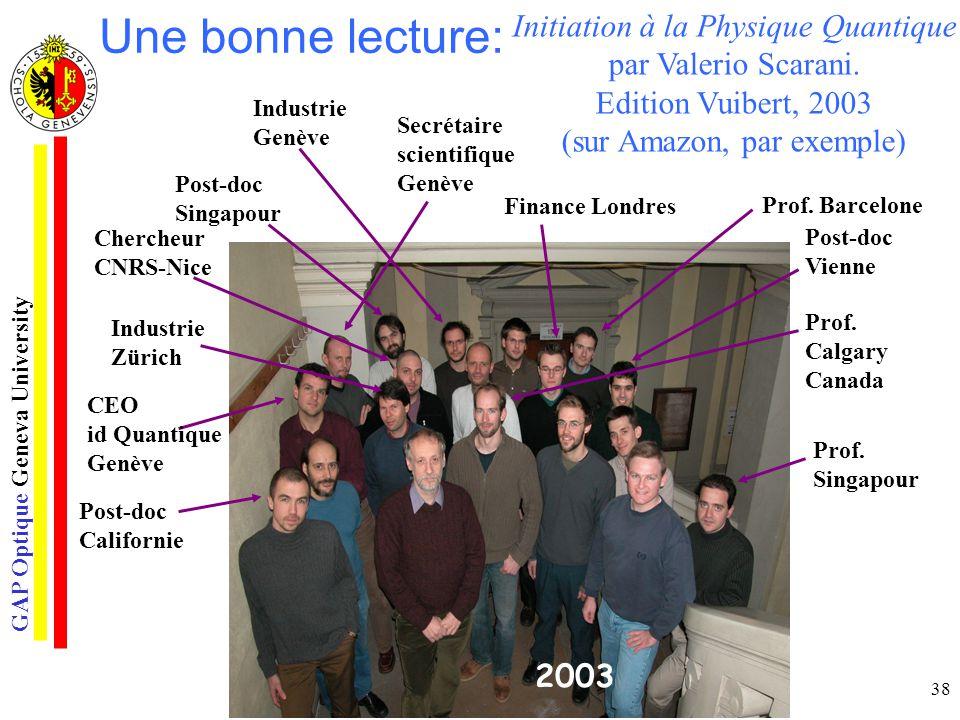 Une bonne lecture: Initiation à la Physique Quantique