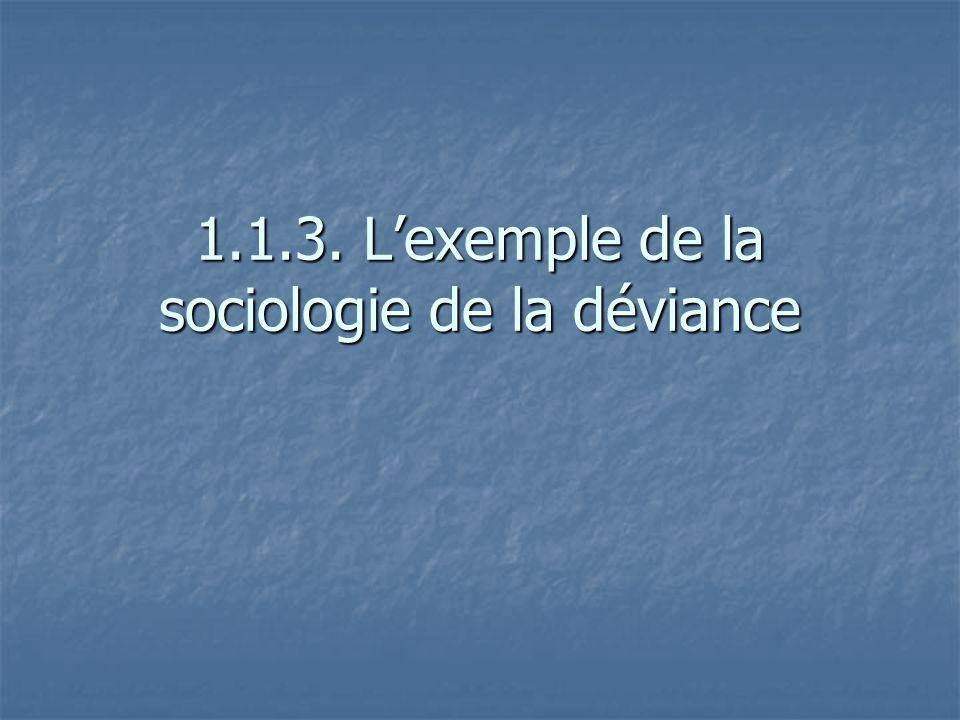 1.1.3. L'exemple de la sociologie de la déviance