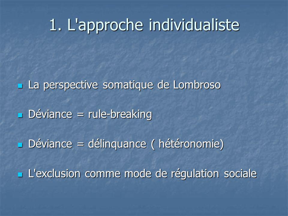 1. L approche individualiste