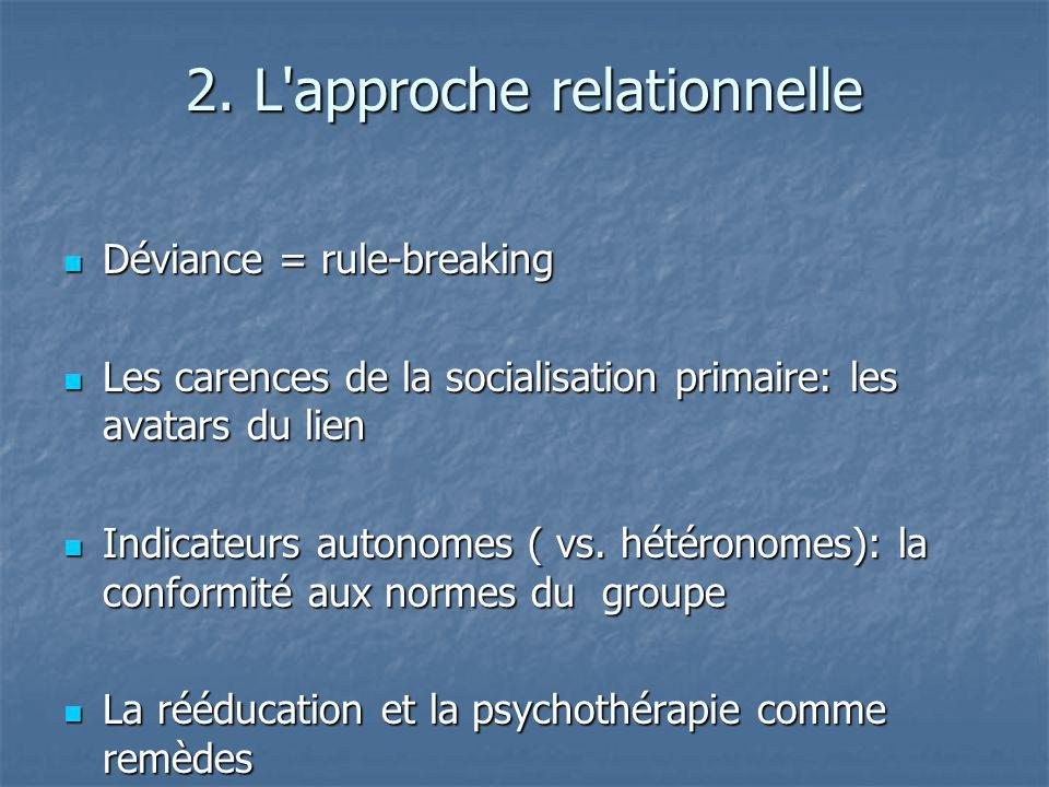 2. L approche relationnelle