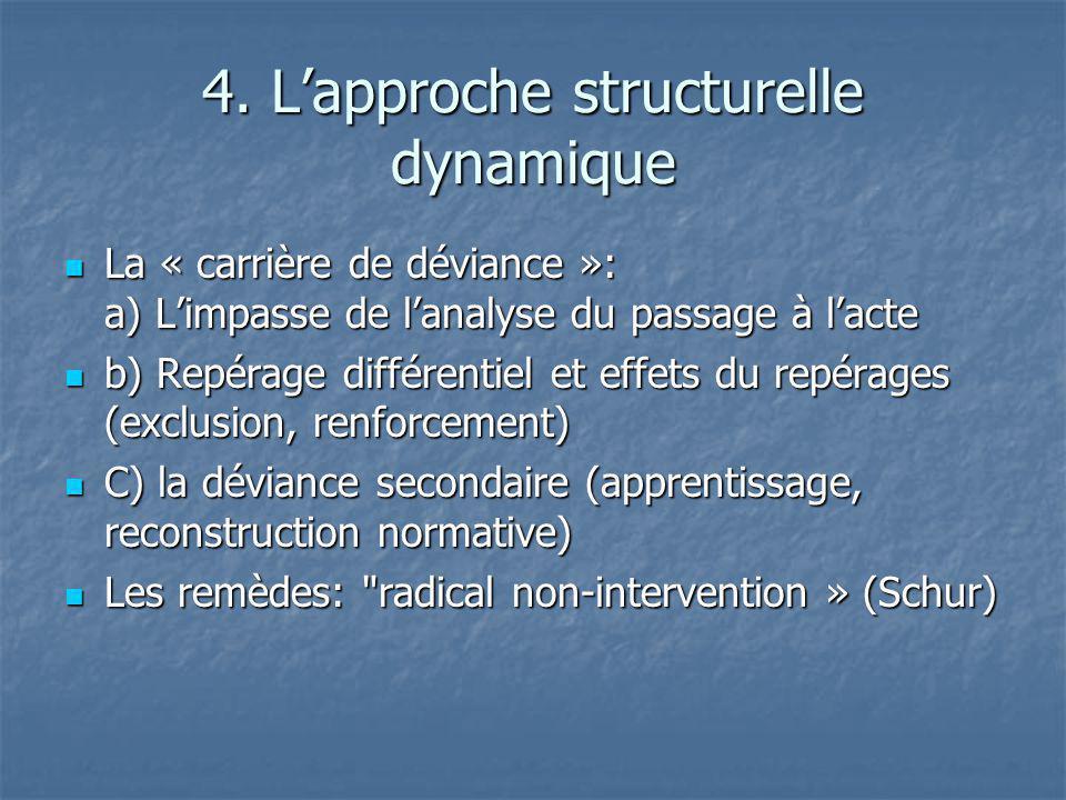 4. L'approche structurelle dynamique