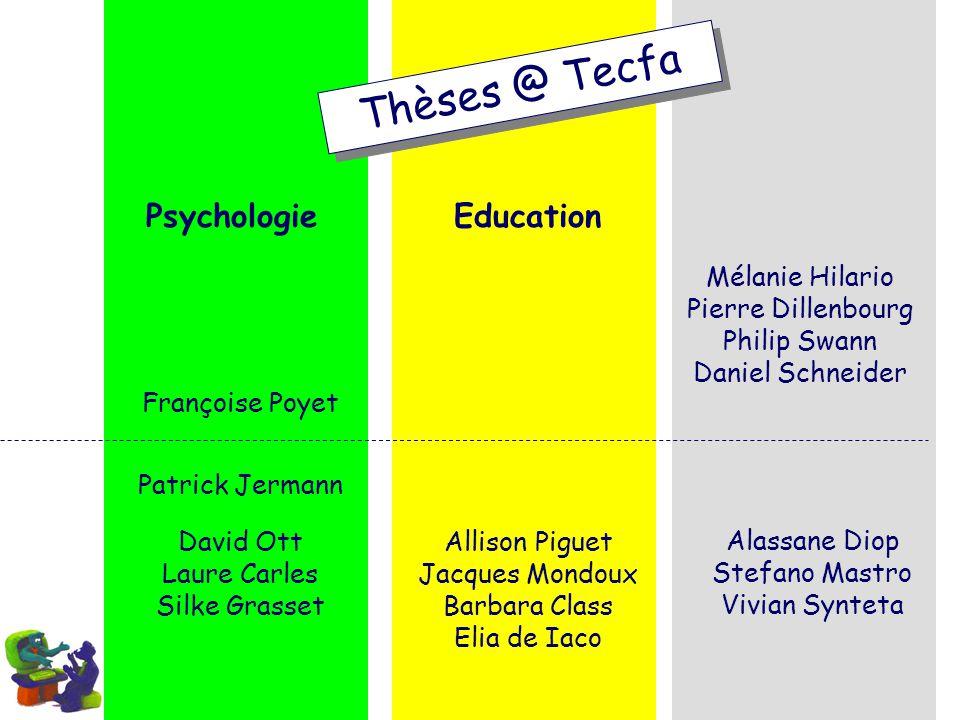 Thèses @ Tecfa Psychologie Education Mélanie Hilario