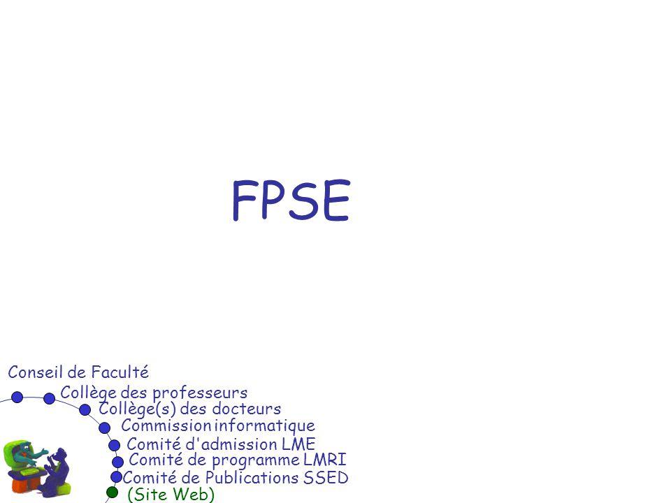 FPSE Conseil de Faculté Collège des professeurs