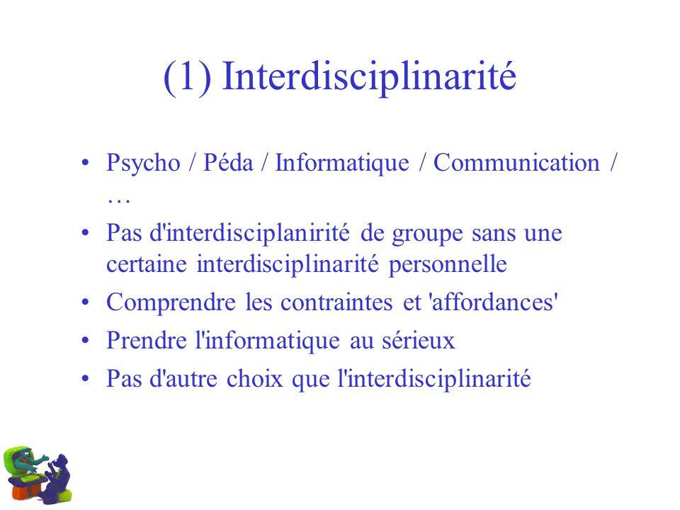 (1) Interdisciplinarité