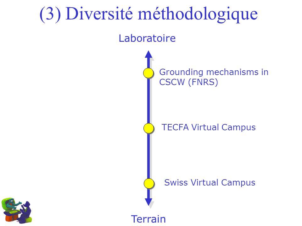 (3) Diversité méthodologique