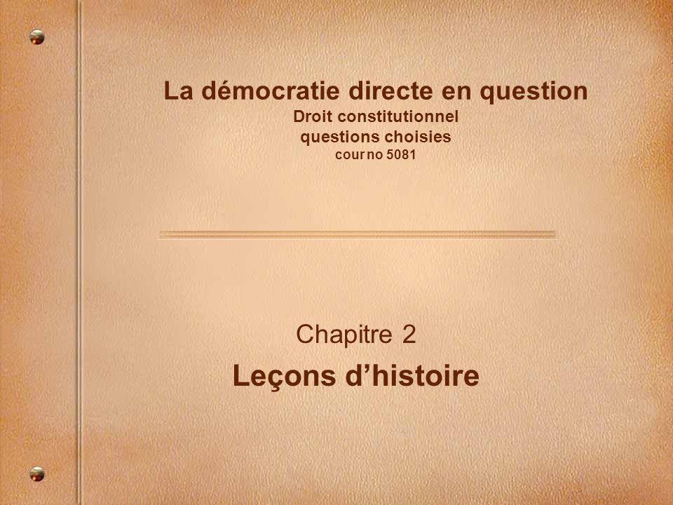 Chapitre 2 Leçons d'histoire