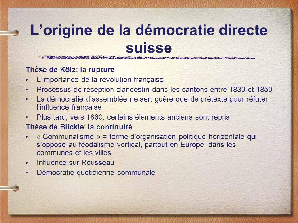 L'origine de la démocratie directe suisse