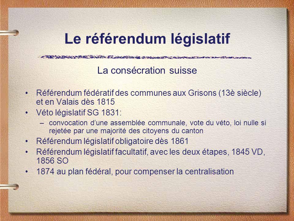 Le référendum législatif