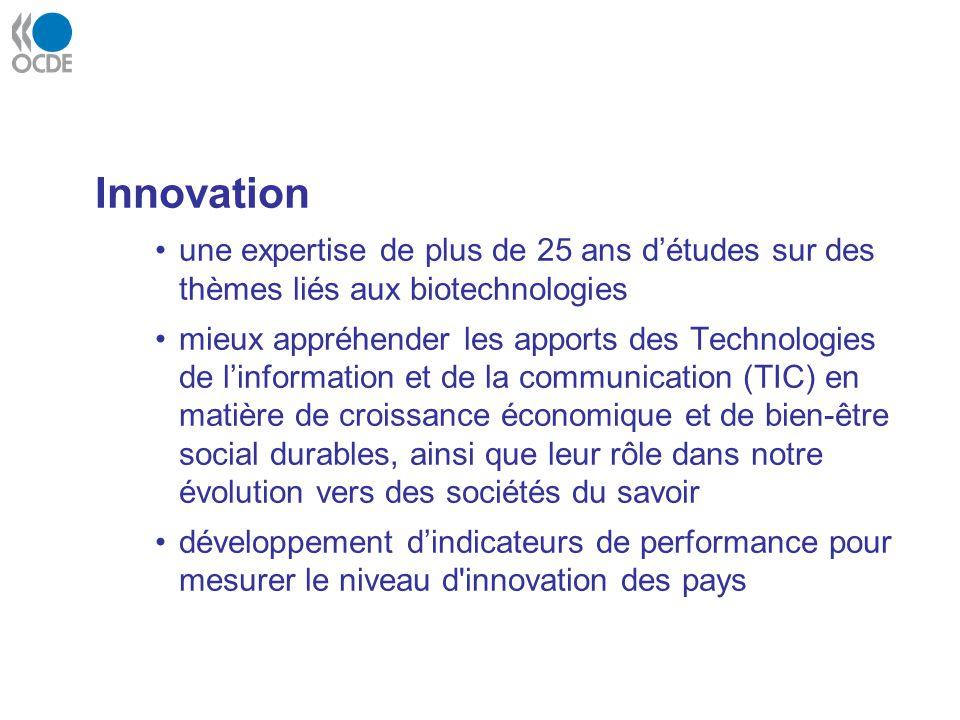 Innovation une expertise de plus de 25 ans d'études sur des thèmes liés aux biotechnologies.