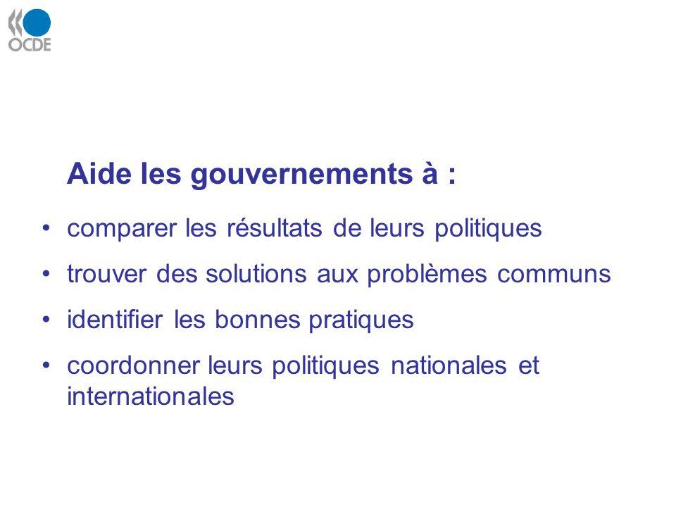 Aide les gouvernements à :