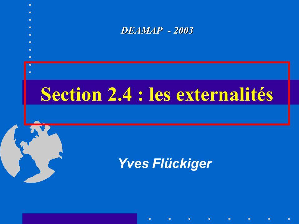 Section 2.4 : les externalités